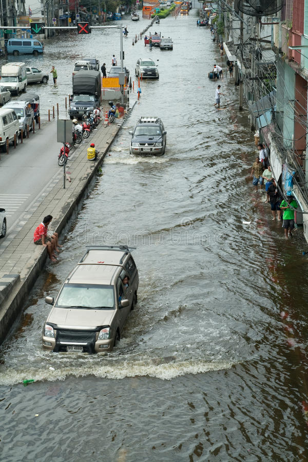 Flooding crisis in Thailand royalty free stock images