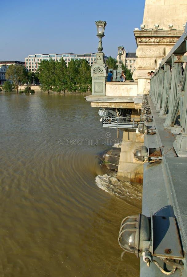 Flooding Danube royalty free stock image