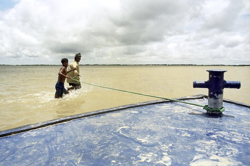 Flooding in the delta Bangladesh, climate changes stock photos