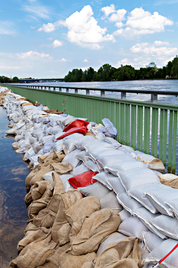 Flooding Elbe River stock photo