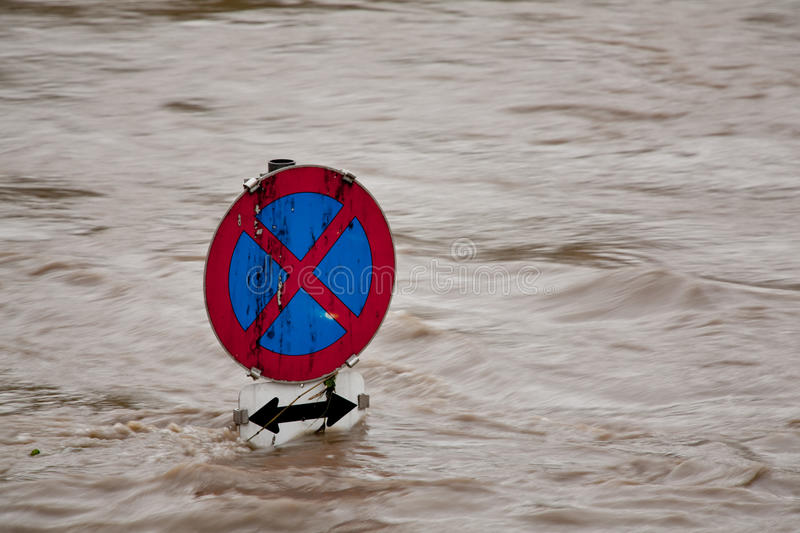 Flooding in flood after rain royalty free stock photography
