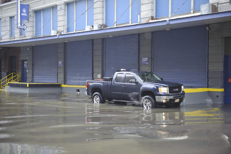 Download Flooding after storm Sandy editorial stock image. Image of super - 27581364