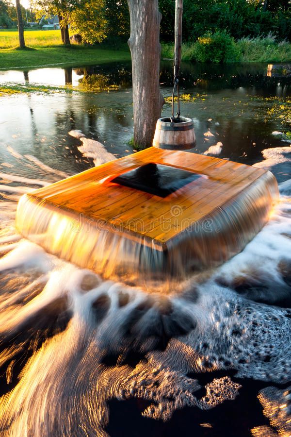 Flooding Well Royalty Free Stock Photo