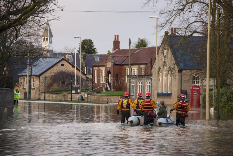 Flooding - Yorkshire - England stock images