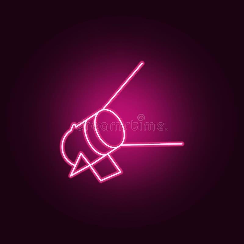 floodlight dla oświetleniowej ikony Elementy światło reflektorów w neonowych stylowych ikonach Prosta ikona dla stron internetowy ilustracja wektor
