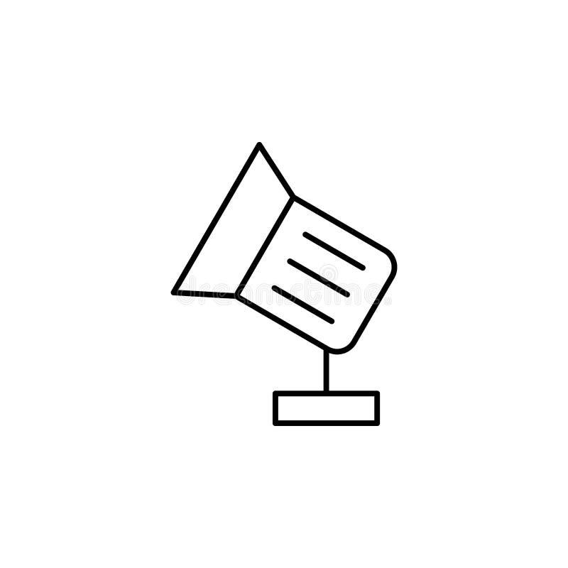 Floodlight ikona Element wideo produkty zarysowywa ikonę dla mobilnych pojęcia i sieci apps Cienka kreskowa floodlight ikona może royalty ilustracja