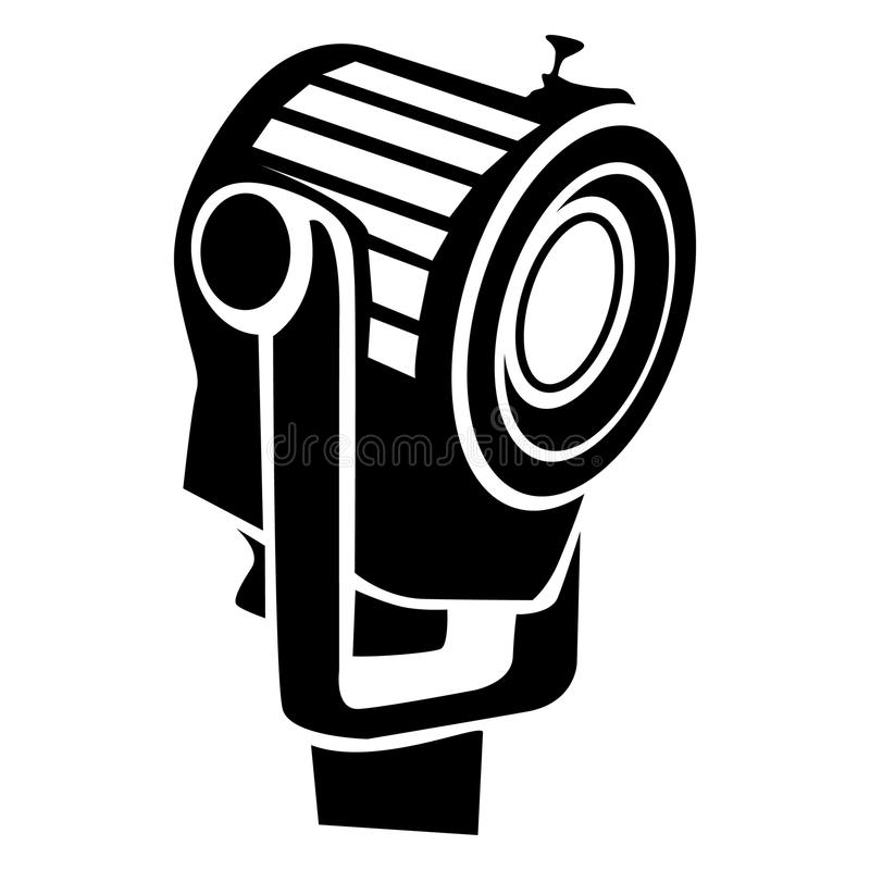 Floodlight ikona w prostym stylu ilustracji