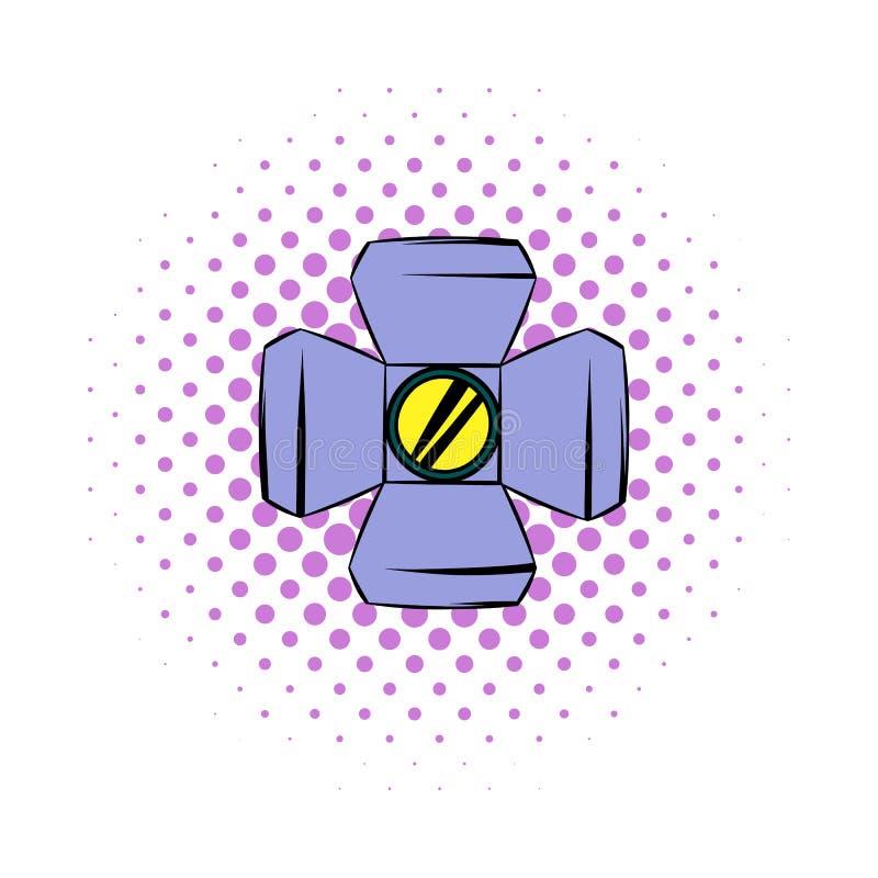 Floodlight komiczek ikona ilustracja wektor