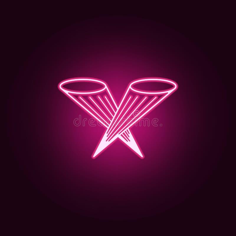 floodlight oświetleniowa ikona Elementy światło reflektorów w neonowych stylowych ikonach Prosta ikona dla stron internetowych, s royalty ilustracja