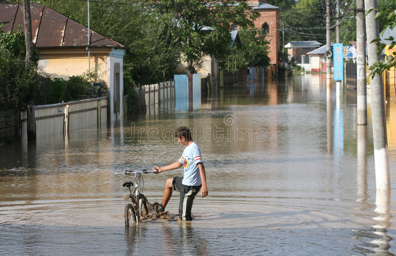Download Floods editorial image. Image of flooded, galati, floods - 25069825