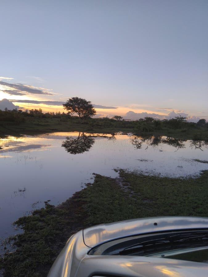 Floods after big rains thika kenya stock photo