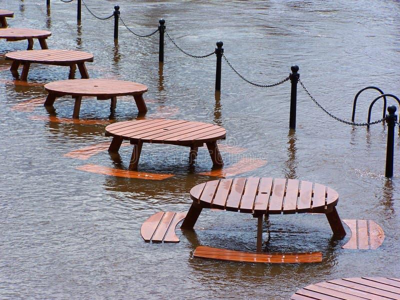Floods in York stock photo