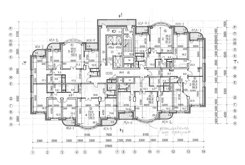 Download Floor Architectural Construction Plan Stock Photo - Image: 23581688