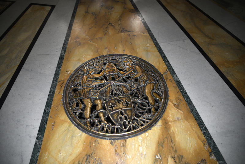 The floor of the baptistry in the Basilica of St John Lateran in Rome Italy stock image