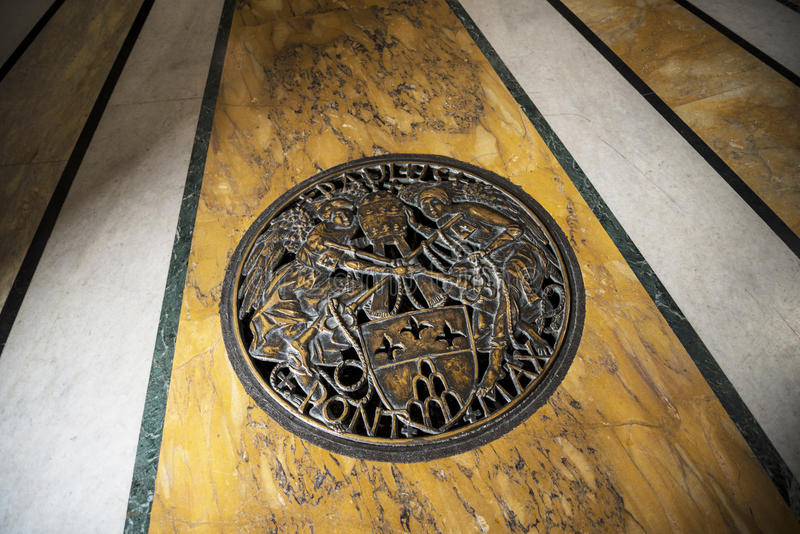 The floor of the baptistry in the Basilica of St John Lateran in Rome Italy royalty free stock photography