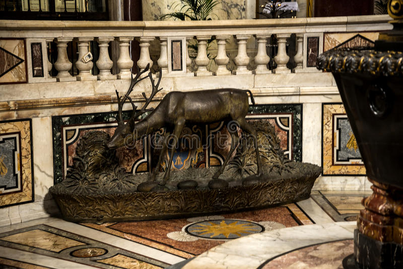 The floor of the baptistry in the Basilica of St John Lateran in Rome Italy royalty free stock photos