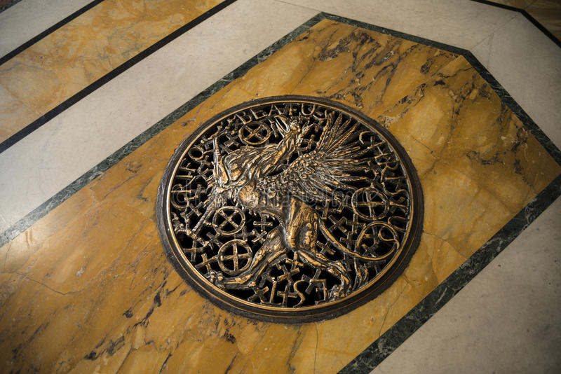 The floor of the baptistry in the Basilica of St John Lateran in Rome Italy stock photography