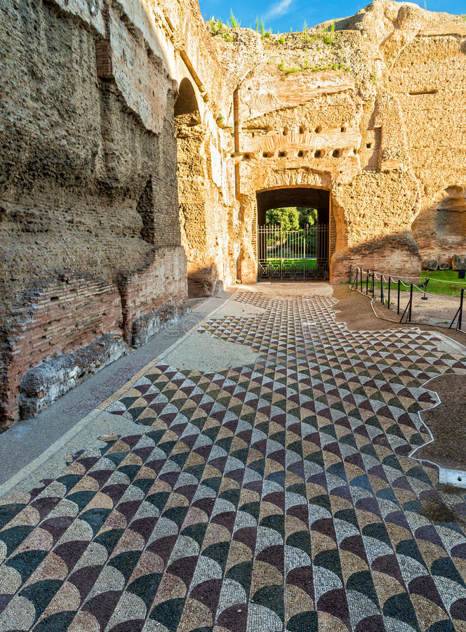 Floor in the Baths of Caracalla in Rome. Italy royalty free stock photos