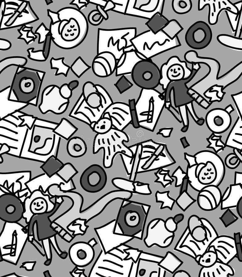 Monochrome Grayscale Abstract Pixelated Splash Stock