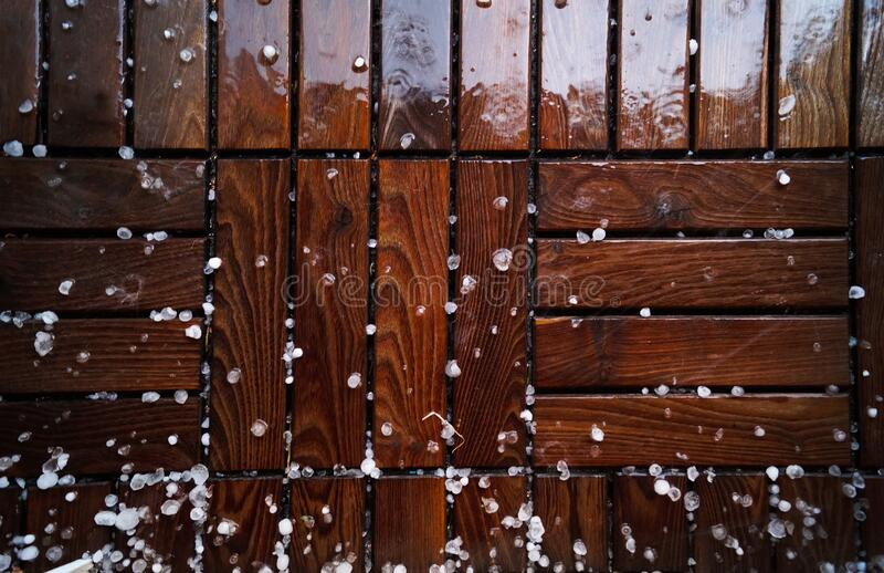 Floor with hail stones stock photography