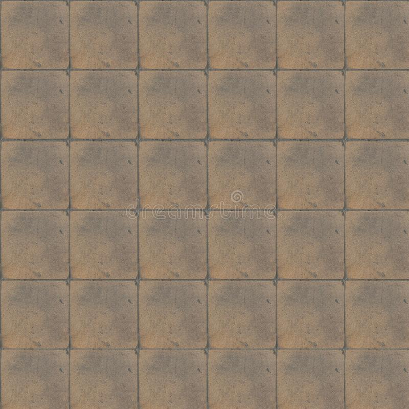 Floor home retro tiles. Beige color. royalty free stock photography