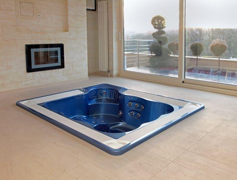 Floor hot tub royalty free stock image