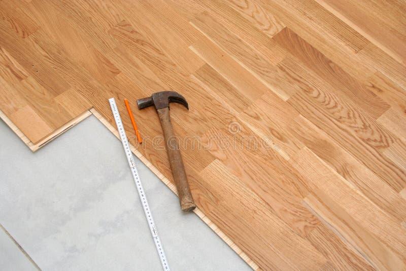 Floor installation stock photo