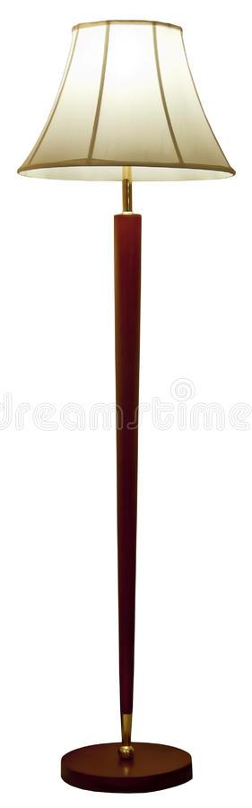 Floor lamp. Hotel bedroom floor lamp isolated on white background,use for interior design etc stock photos