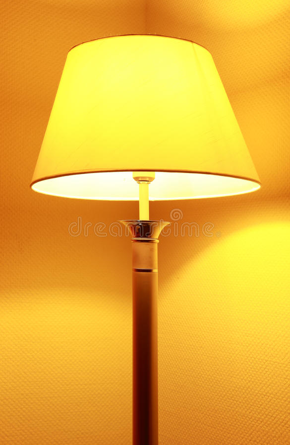 Download Floor lamp stock image. Image of yellow, single, lampshade - 19247849