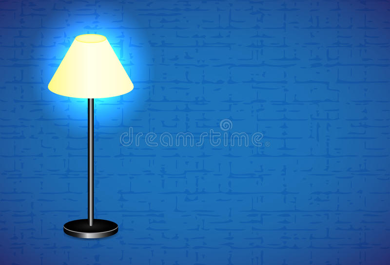 Download Floor lamp stock vector. Image of black, light, indoors - 28563643
