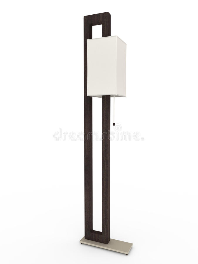 Floor lamp. 3D illustration. royalty free stock images