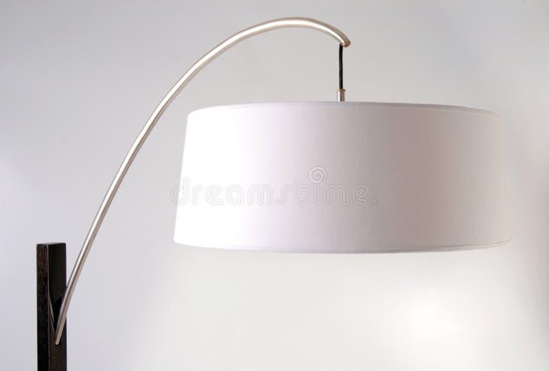 Floor lamp detail. White lampshade royalty free stock photos
