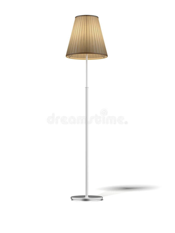 Floor Lamp isolated on white vector illustration