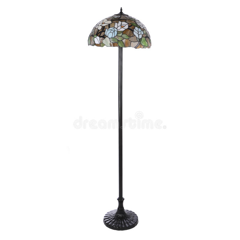 Floor lamp isolated. On white background royalty free stock photography