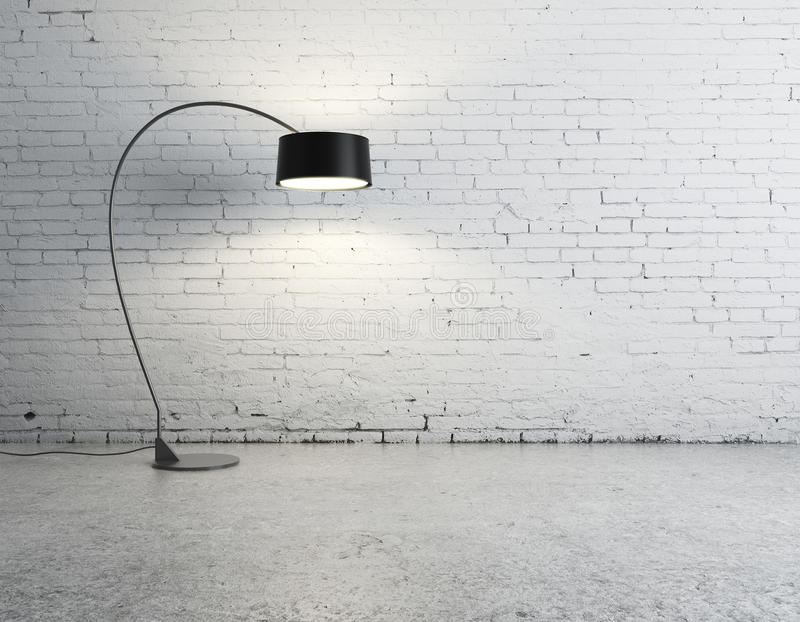 Download Floor lamp in room stock photo. Image of cement, backgrounds - 26979368