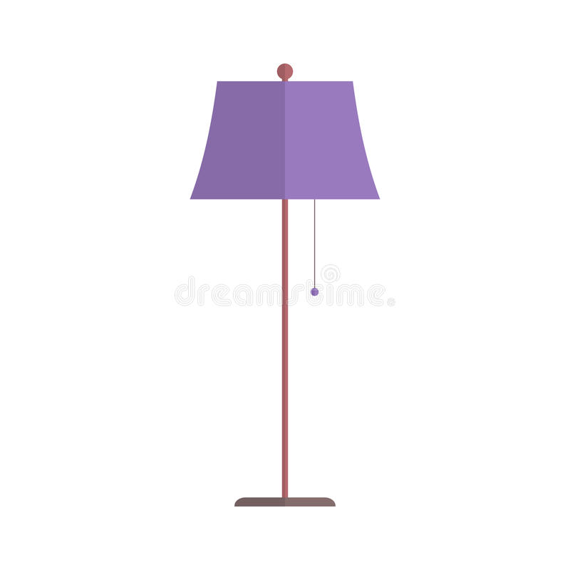 Floor lamp vector. Floor lamp isolated on white background. Simple flat vector illustration, EPS 10 vector illustration
