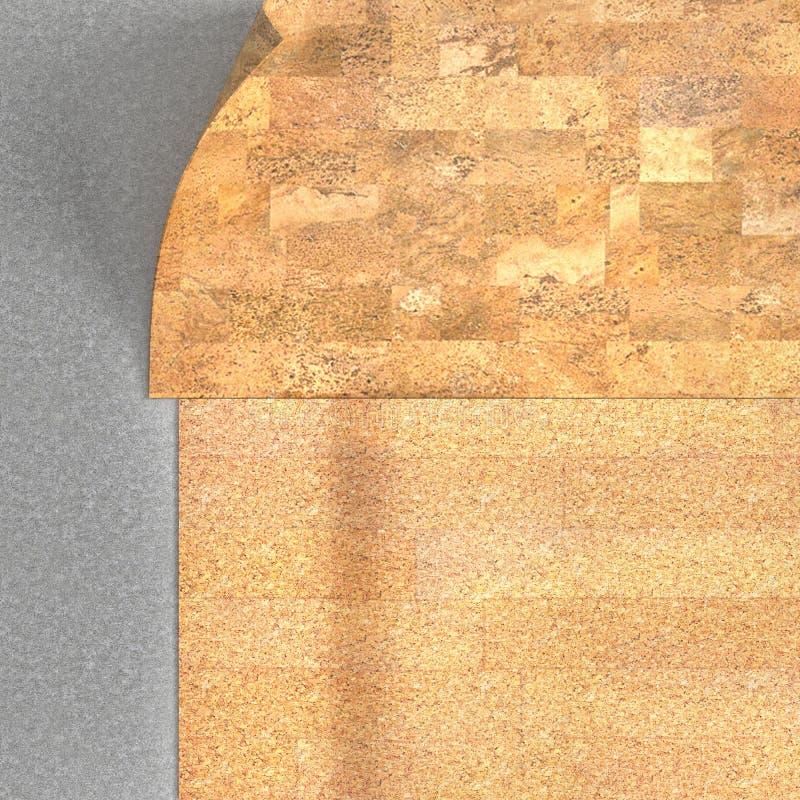Floor layers. Cork floor royalty free stock photo