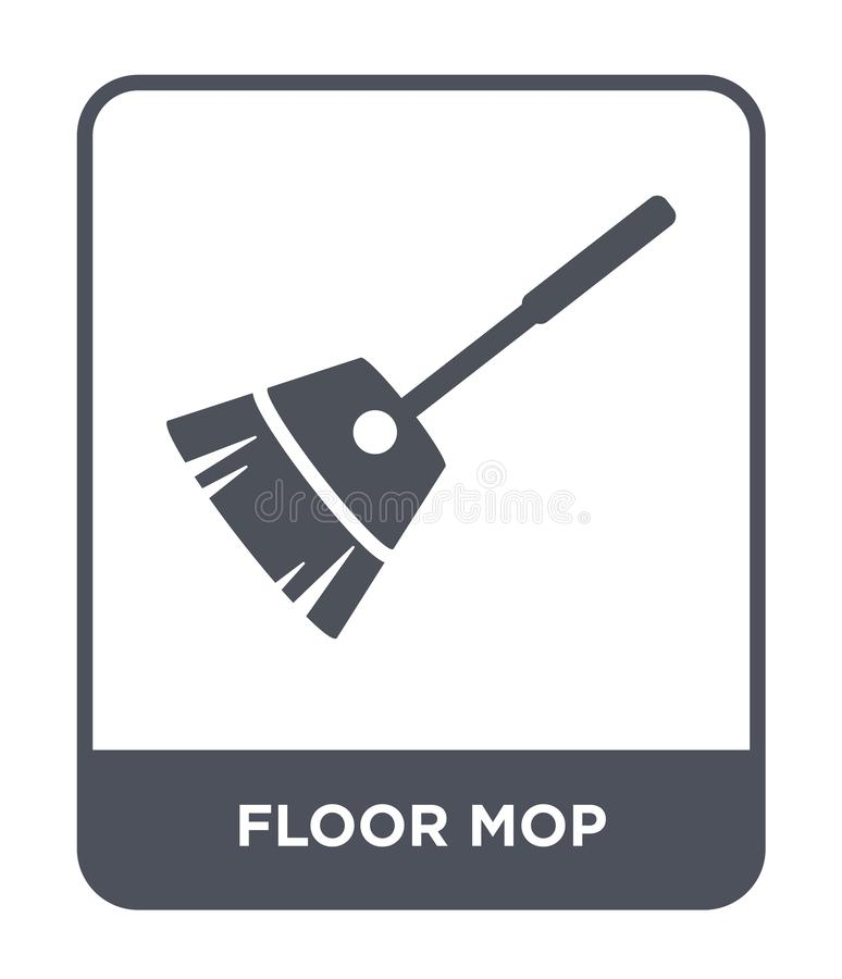floor mop icon in trendy design style. floor mop icon isolated on white background. floor mop vector icon simple and modern flat stock illustration