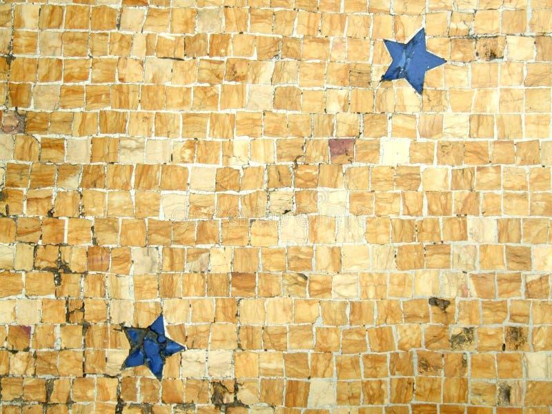 Floor mosaic tile pattern royalty free stock image