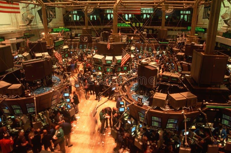 Floor of New York Stock Exchange stock photography