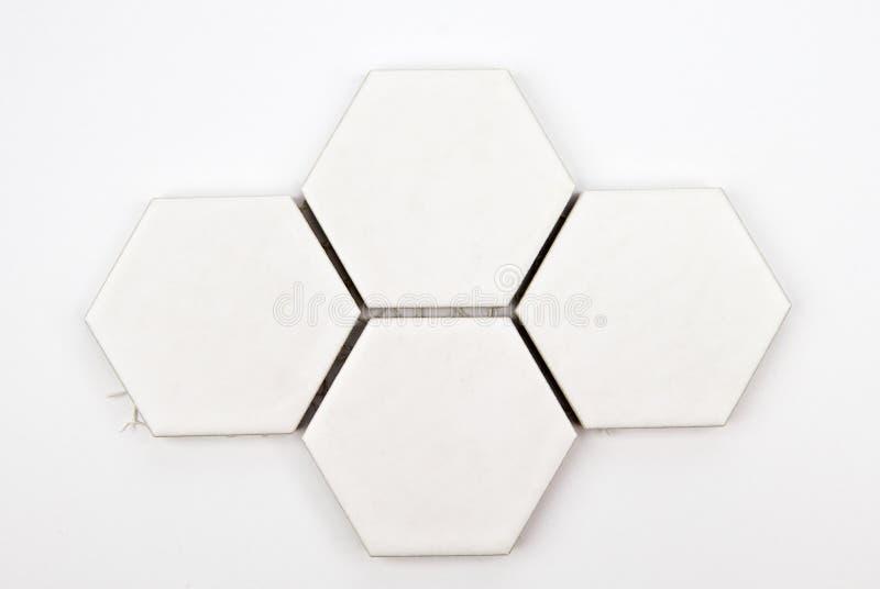 Floor octagonal ceramic. Tiles - isolated on white royalty free stock image