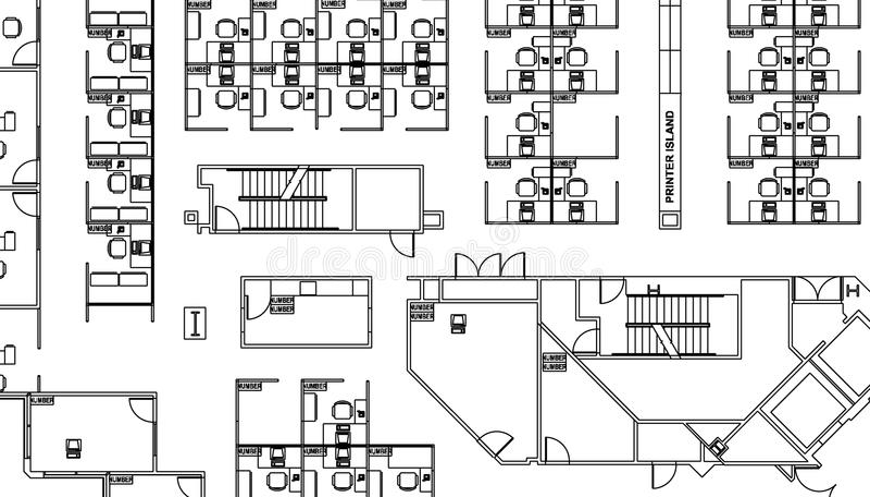 Floor plan vector illustration