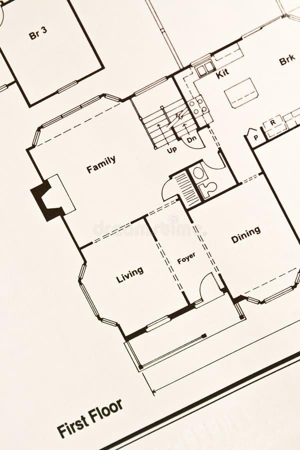 Floor plan royalty free stock photography
