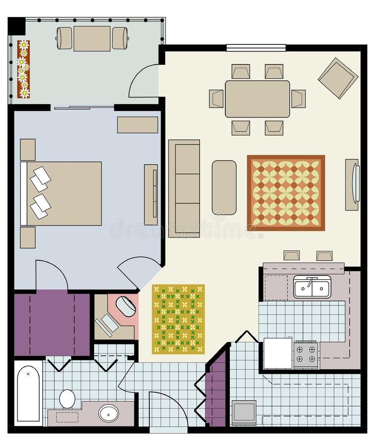 Download Floor plan stock vector. Image of drawing, project, architecture - 17977682