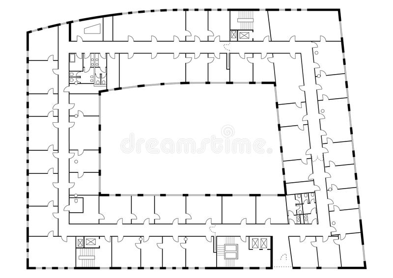 Floor plan of building royalty free stock images