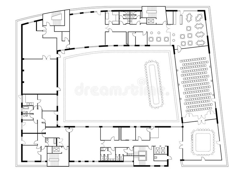 Floor plan of building stock photography