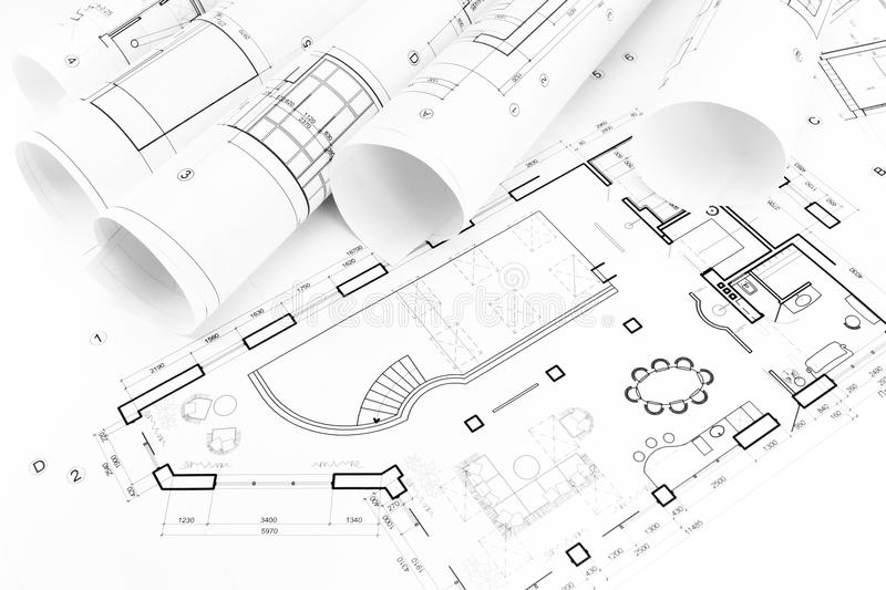 Floor Plan Drawings Stock Image. Image Of Architecture