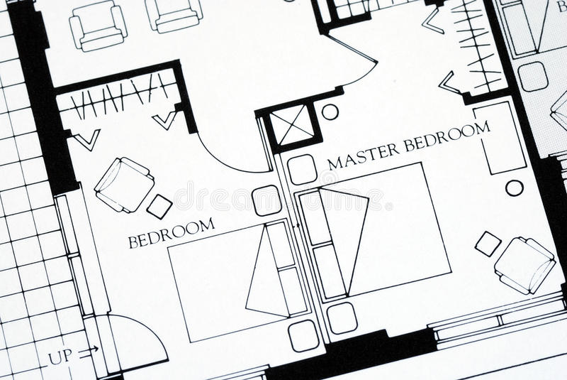 Download Floor Plan Focused On The Master Bedroom Stock Image - Image: 12481627