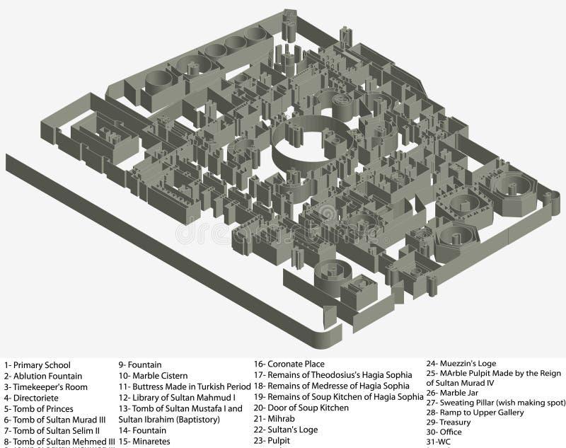 Download Floor Plan Of Hagia Sophia Museum Stock Vector - Image: 17319634