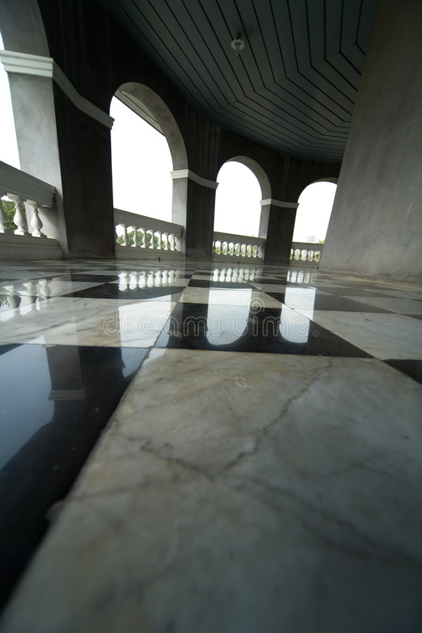 Floor with retro checkered